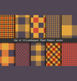 set of 10 options tartan seamless pattern vector image vector image