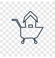 shopping concept linear icon isolated on vector image