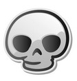 skull emoji face emoticon sticker vector image vector image
