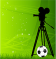 soccer background vector image vector image