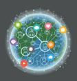 social media network concept abstract vector image vector image
