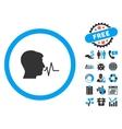 Speaking Signal Flat Icon with Bonus vector image