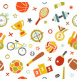 sport seamless pattern fitness background vector image