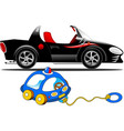 sports car and children toy vector image vector image