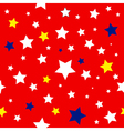 Stars Red White Yellow Blue Pattern vector image