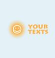 sun logo design template cartoon vector image vector image