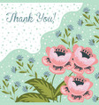 thank you hand drawng brush picture doodle vector image vector image
