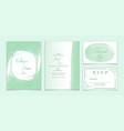 wedding invitation set elegant watercolor pantone vector image vector image