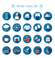 Winter Icons Set Silhouette Black and White vector image