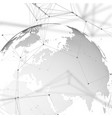 world globe with shadow on gray abstract global vector image
