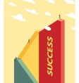 People climb the stairs Success concept vector image