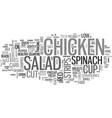 a healthy low carb recipe chicken strips salad vector image vector image