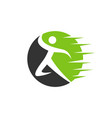 abstract running man logo design elements vector image vector image
