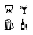 alcohol drinks simple related icons vector image