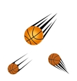 basketball logo on a white background vector image vector image