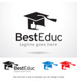best education logo template vector image