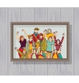 big happy family group color photo on wall vector image