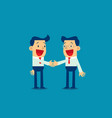 businessman shaking hands to seal an agreement vector image