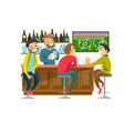 caucasian people watching football at sport bar vector image vector image