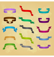 Collection of ribbon icons vector image