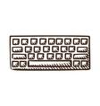 Computer keyboard symbol vector image vector image