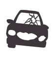 crash car and dangerous automobile accident vector image vector image