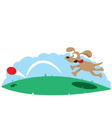 Cute dog and a ball vector image