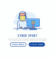 cybersport concept with thin line icons vector image vector image