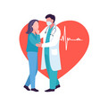 doctor and patient or medial and health concept vector image