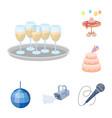 event organisation cartoon icons in set collection vector image
