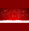 falling shining little snow isolated on red vector image