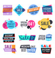 fashion design pricing tags and discount labels vector image vector image
