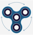 fidget spinner stress relieving hand spin toy vector image