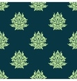 Floral light green damask seamless pattern vector image vector image