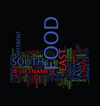 food in south east asia text background word vector image vector image