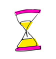 free hand drawing of a sand clock vector image vector image