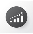 graph icon symbol premium quality isolated vector image vector image