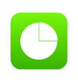 graphs chart statistic icon digital green vector image vector image