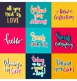 Hand drawn lettering posters collection vector image