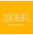 Home icon with shadow in orange background vector image vector image