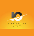 io i o letter modern logo design with yellow vector image vector image