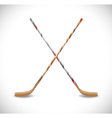Isolated hockey sticks vector image vector image