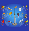 isometric gas industry infographic concept vector image
