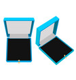 jewelry gift box blue cas vector image vector image