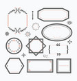 line black and pink empty wedding emblems set vector image vector image