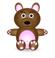 little teddy bear vector image