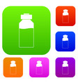 medicine set color collection vector image vector image
