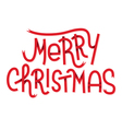 Merry Christmas lettering isolated on white Typogr vector image vector image