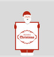merry christmas typography with santa clause and vector image vector image