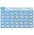 meteorological symbols set vector image